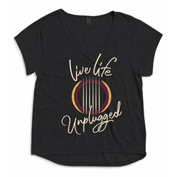 Live Life Unplugged Ladies Dreamer T Shirt