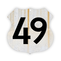 "Highway 49 Sign - 12.5"" Aluminum"