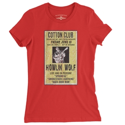 Howlin' Wolf Poster Ladies T Shirt