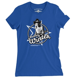 Officially Licensed Johnny Winter Ladies T Shirt