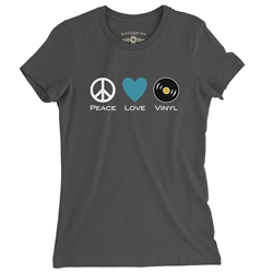 Peace Love Vinyl Ladies T Shirt