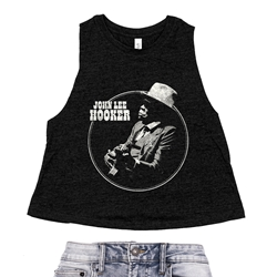John Lee Hooker Circle Racerback Crop Top - Women's