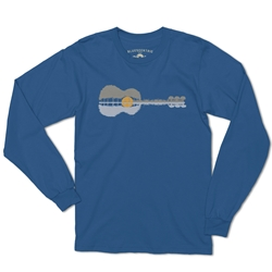 Guitar Reflection Music Long Sleeve T Shirt
