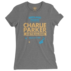 Charlie Parker at Birdland Ladies T Shirt - Relaxed Fit