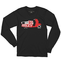 Officially Licensed Bo Diddley Scooter Long Sleeve T Shirt