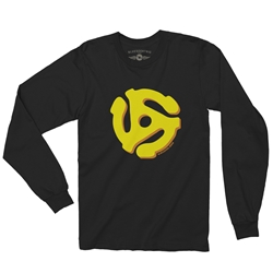 45 Vinyl Record Adapter Long Sleeve T Shirt