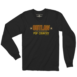OUTLAW! Pop Country Music Long Sleeve T Shirt