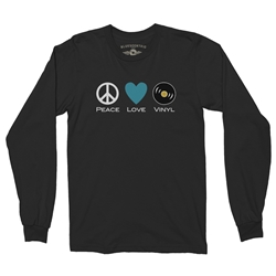 Peace Love Vinyl Records Long Sleeve T Shirt