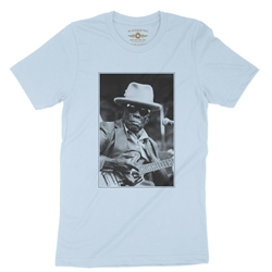 John Lee Hooker Black & White Photo T-Shirt - Lightweight Vintage Style