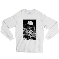 John Lee Hooker Black & White Photo Long Sleeve T-Shirt
