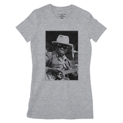 John Lee Hooker Black & White Photo Ladies T Shirt - Relaxed Fit