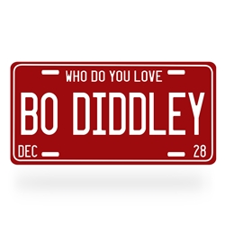 Bo Diddley Aluminum License Plate