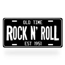 Rock n Roll Aluminum License Plate