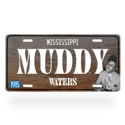 Muddy Waters Aluminum License Plate