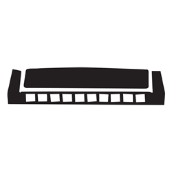 Harmonica Car, Glass or Guitar Case Vinyl Decal
