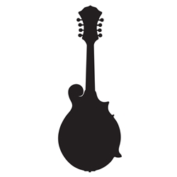 Mandolin Car, Glass or Guitar Case Vinyl Decal