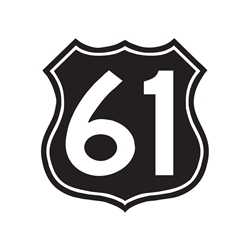 Highway 61 Car, Glass or Guitar Case Vinyl Decal