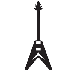 Flying V Car, Glass or Guitar Case Vinyl Decal