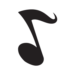 Music Note Car, Glass or Guitar Case Vinyl Decal