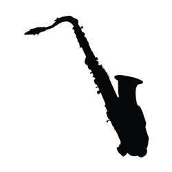 Saxophone Car, Glass or Guitar Case Vinyl Decal