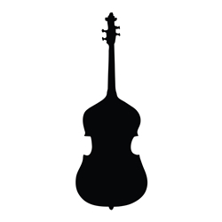 Stand Up Bass Car, Glass or Guitar Case Vinyl Decal
