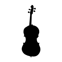 Violin Car, Glass or Guitar Case Vinyl Decal