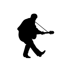 Duck Walking Guitarist Car, Glass or Guitar Case Vinyl Decal