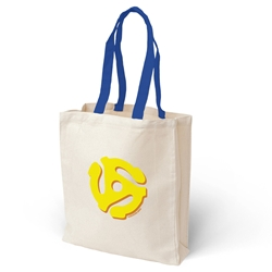 45 Record Adapter Vinyl Record Tote