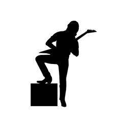 Rock n Roller Guitarist Wall Decal