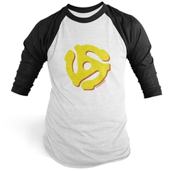 45 Vinyl Record Adapter Raglan Baseball Tee
