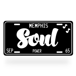 Soul Music Aluminum License Plate