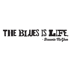 The Blues Is Life Car, Glass or Guitar Case Vinyl Decal