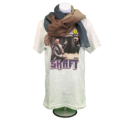 Ladies Shaft Soul Music Top, scarf and pin-back buttons outfit