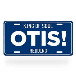 Otis Redding Aluminum License Plate