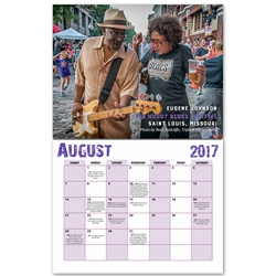2017 Blues Fests and Juke Joints Wall Calendar