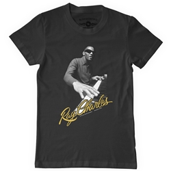 Official Ray Charles Heavy Cotton T Shirt