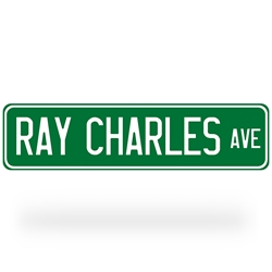 Ray Charles Avenue Street Sign