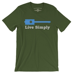 Live Simply Guitar Music T Shirt