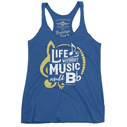 Life Without Music Would B Flat Racerback Tank - Women's