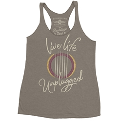Live Life Unplugged Racerback Tank - Women's