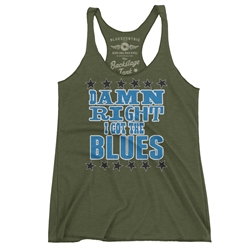 Damn Right I've Got The Blues Racerback Tank - Women's
