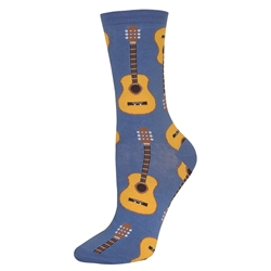 Acoustic Guitar Socks Women's Cornflower Blue