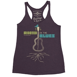 Rooted in the Blues Racerback Tank - Women's