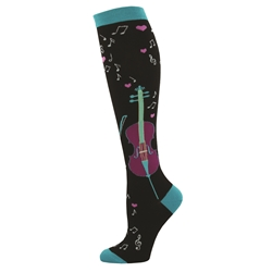 Ladies' Love and Music Knee High Socks