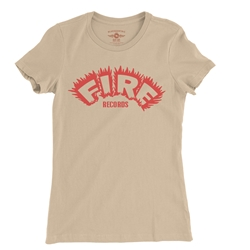 Fire Records Ladies T Shirt