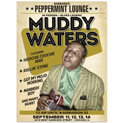 Muddy Waters at Peppermint Lounge Concert Poster