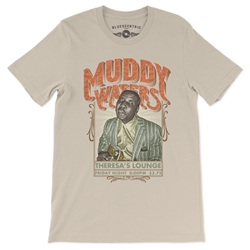 Muddy Waters at Theresa's Lounge T-Shirt - Lightweight Vintage Style