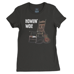 Ladies Howlin Wolf Rockin Chair T Shirt