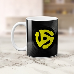 45 Vinyl Record Adapter Coffee Mug