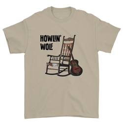 Howlin Wolf Rocking Chair T-Shirt - Classic Heavy Cotton